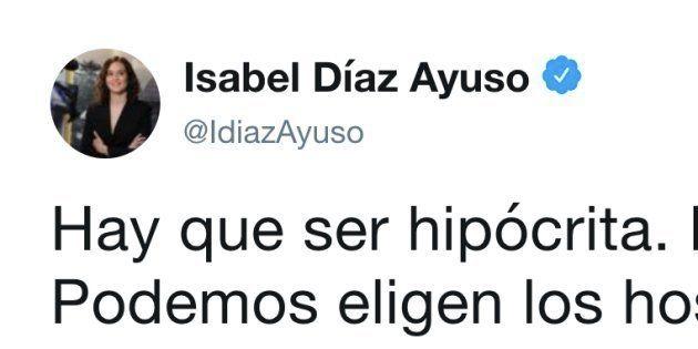 Tuit de Isabel Díaz