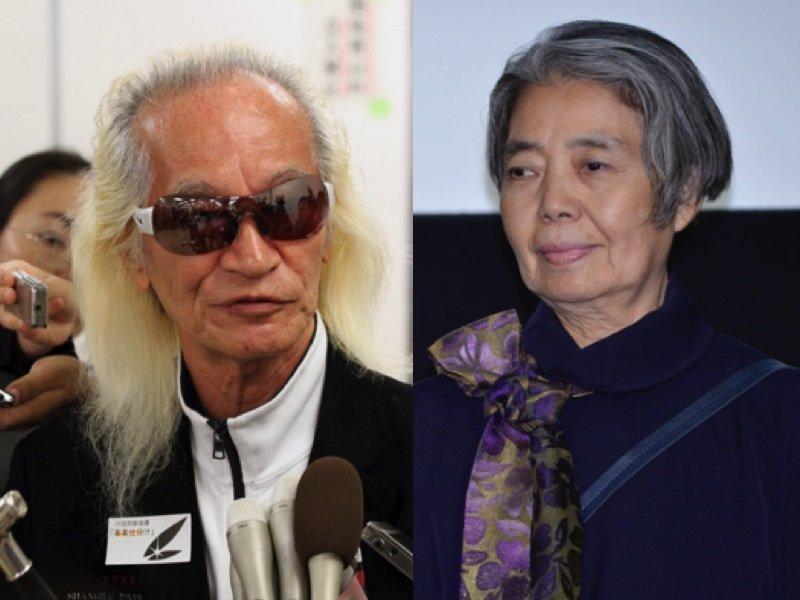 内田裕也さん(左)、樹木希林さん(右)