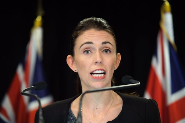 New Zealand Prime Minister Jacinda Ardern speaks to the media during a Post Cabinet media press conference...
