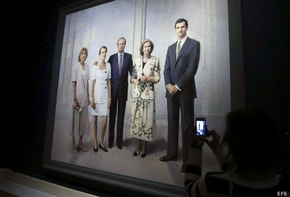 Desvelado el cuadro de la familia real que Antonio López ha tardado 20 años en