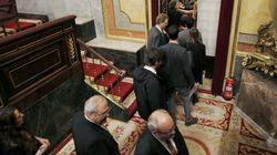 Diputados nacionalistas y Podemos abandonan el pleno en solidaridad con