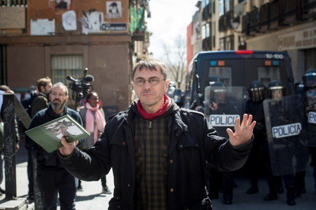 El cofundador de Podemos, Juan Carlos Monedero, durante los