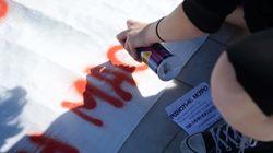 Επεισόδια στο μαθητικό συλλαλητήριο στο κέντρο της