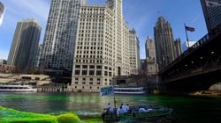 Την ημέρα του Αγ. Πατρικίου, βάφτηκε πράσινο το ποτάμι στο
