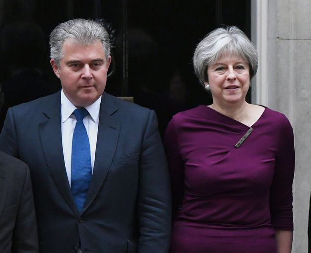 Brandon Lewis with Prime Minister Theresa