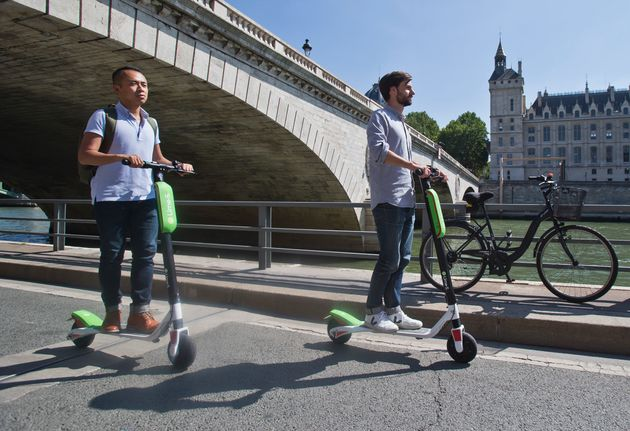 Electric scooters are popular in foreign cities, including Paris,