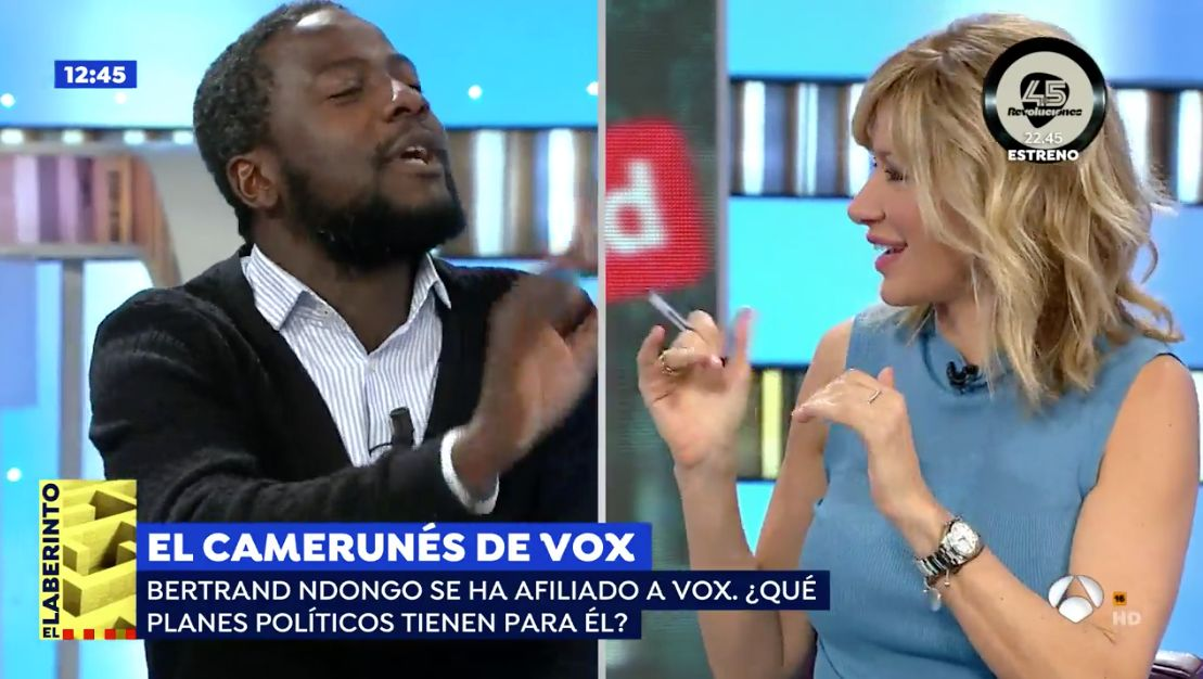 Encontronazo de Susanna Griso con el simpatizante negro de Vox: