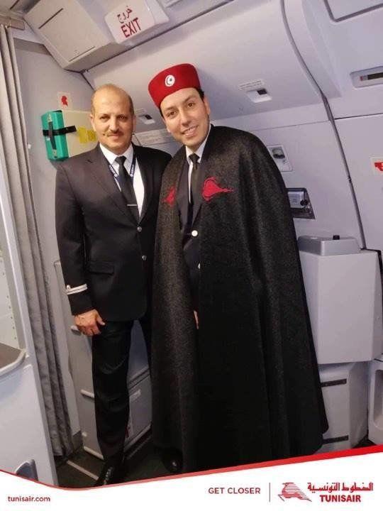 Le Personnel Navigant Commercial de la Compagnie aérienne nationale Tunisair en tenue
