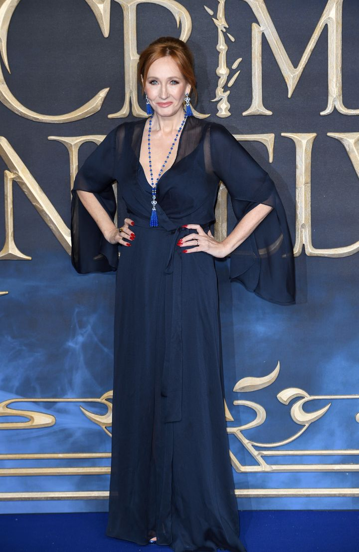 J.K. Rowling attends the premiere of