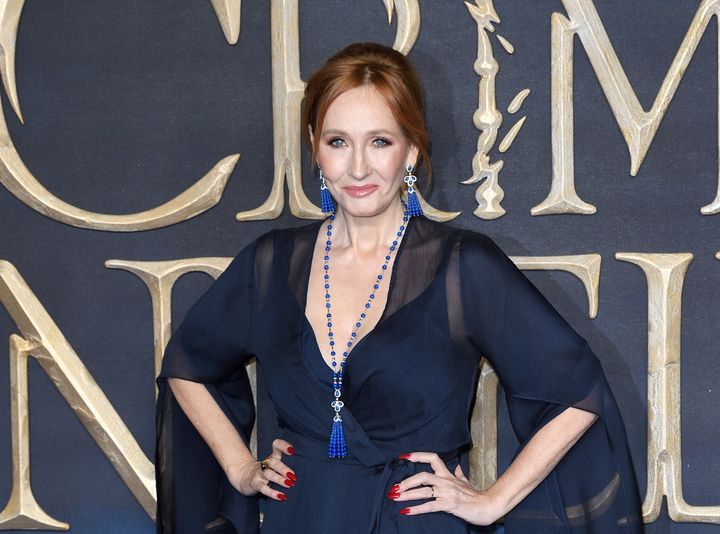 """J.K. Rowling attends the premiere of """"Fantastic Beasts: The Crimes of Grindelwald."""""""