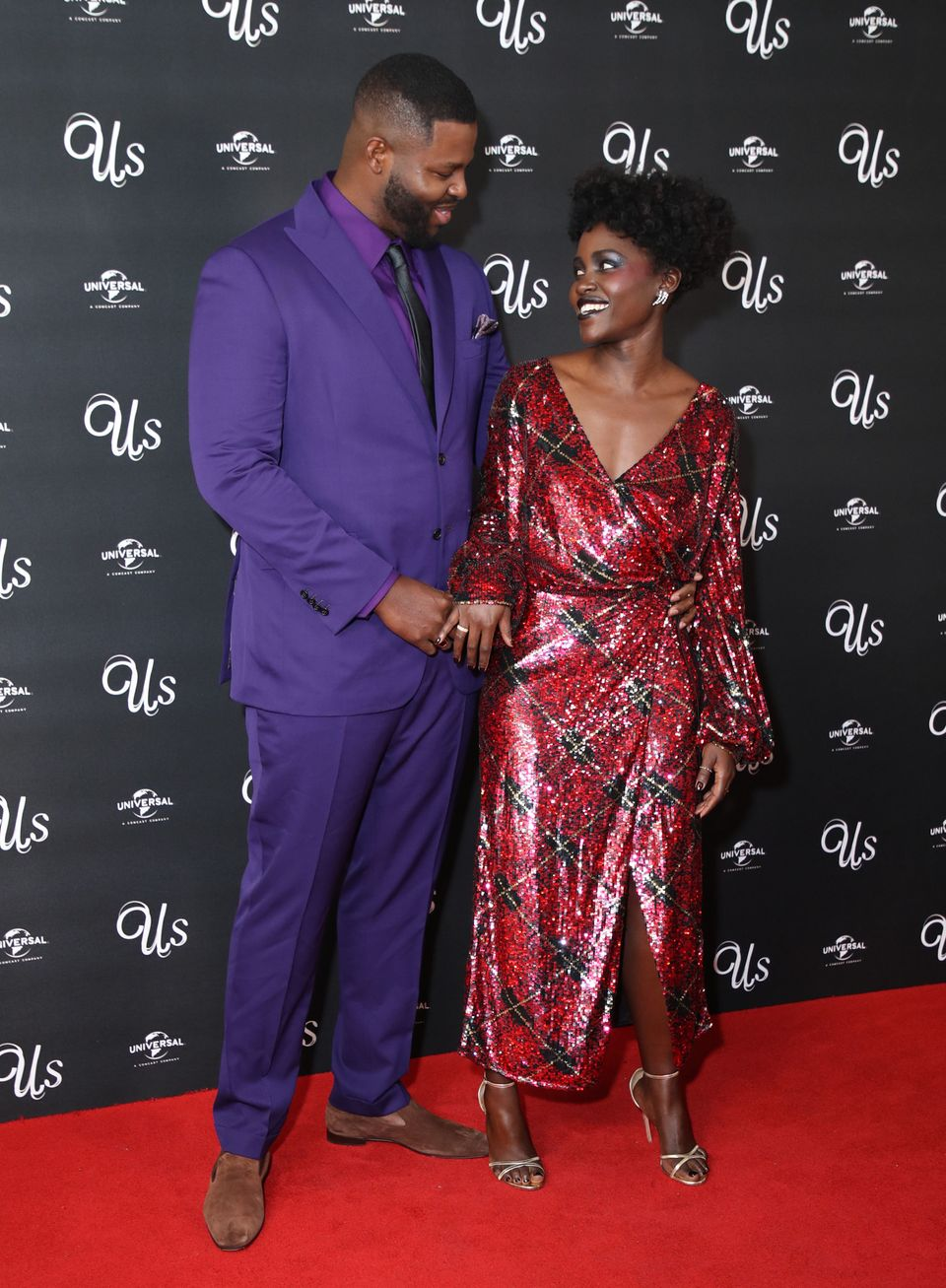 Winston with his Us and Black Panther co-star, Lupita