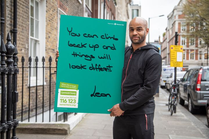 Ex-Premier League footballer Leon McKenzie, who's supporting the campaign.