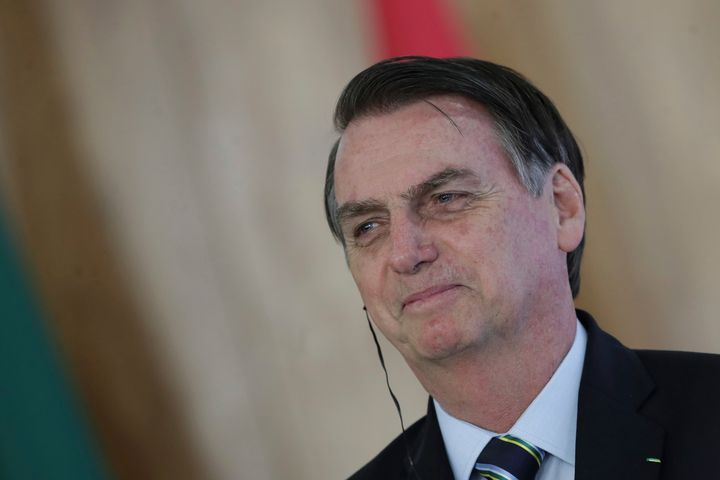 Brazil's President Jair Bolsonaro arrived in Washington on Sunday afternoon for his first official visit to the United States