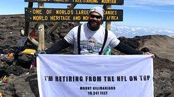 NFL Star Announces Retirement Atop Mt.