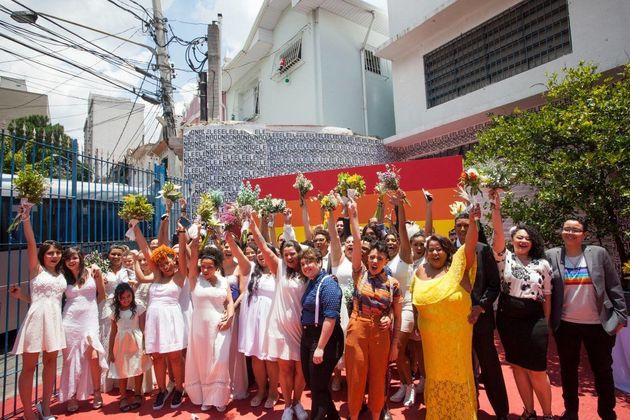 Casamento LGBT foi celebrado em dezembro de 2018 no Galpão da Casa