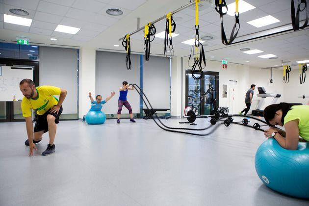 Sala de fitness del centro CARS en la fábrica de Seat en