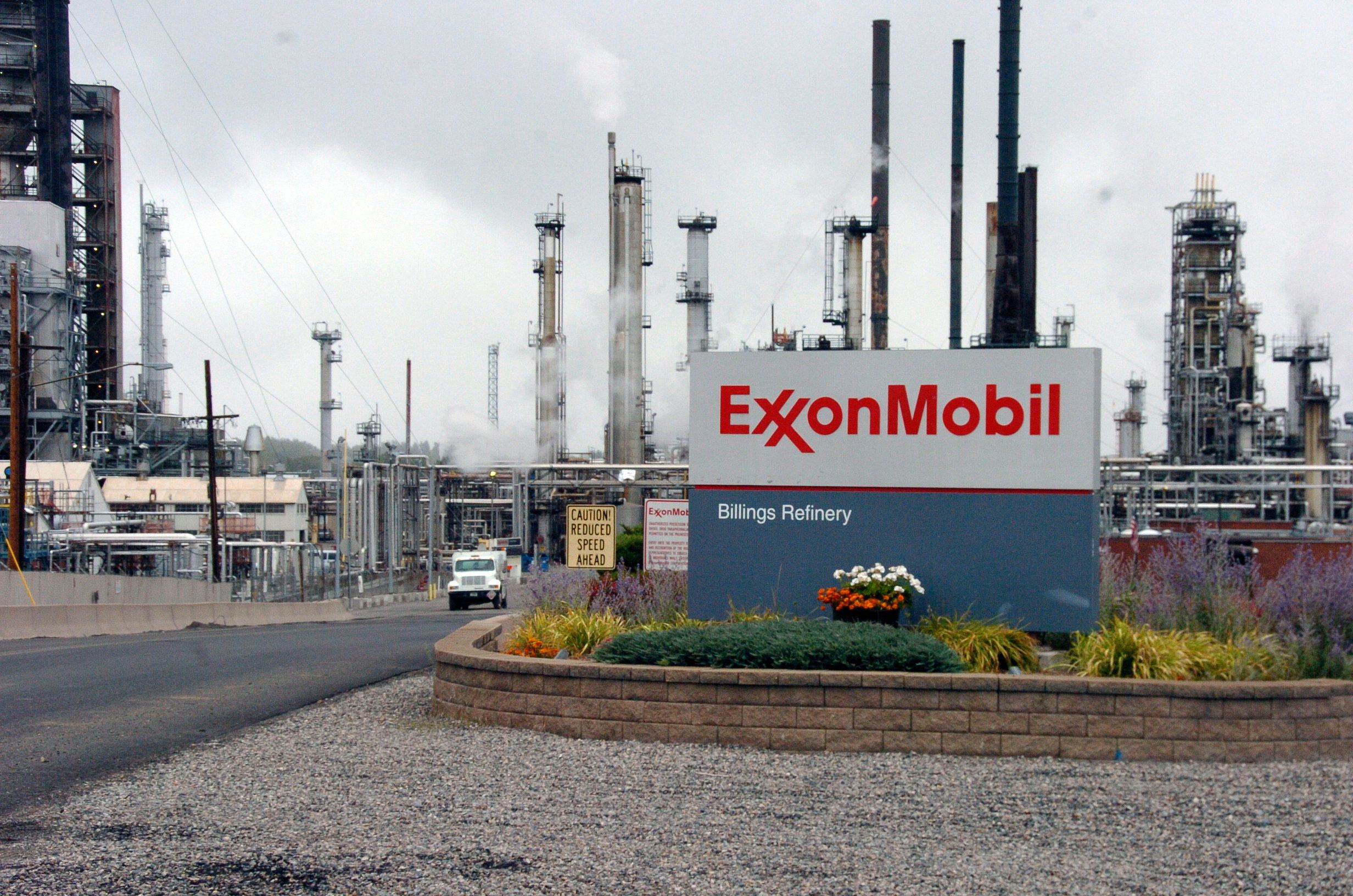 FILE - This Wednesday, Sept. 21, 2016, file photo shows Exxon Mobil's Billings Refinery in Billings, Mont. Exxon Mobil Corp. is reporting fourth-quarter profit of $1.68 billion on Tuesday, Jan. 31, 2017. (AP Photo/Matthew Brown, File)