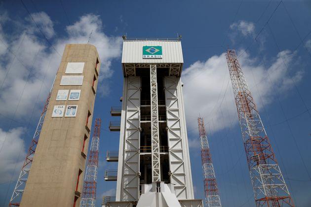 A base de lançamento de foguetes em Alcântara, no