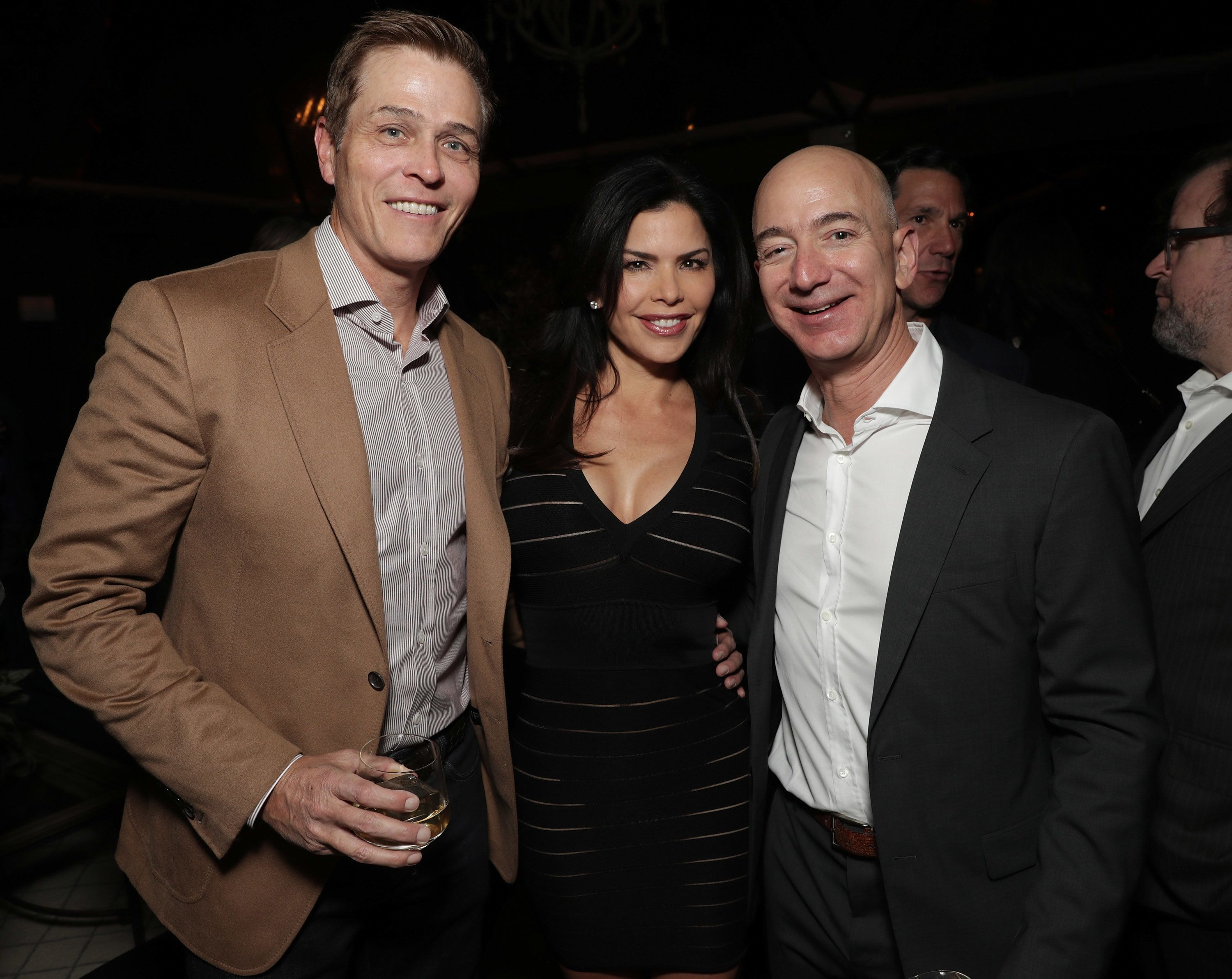 LOS ANGELES, CA - DECEMBER 03:  (EXCLUSIVE COVERAGE) WME's Patrick Whitesell, Lauren Sanchez and Amazon CEO Jeff Bezos attend Jeff Bezos and Matt Damon's 'Manchester By The Sea' Holiday Party on December 3, 2016 in Los Angeles, California.  (Photo by Todd Williamson/Getty Images for Amazon Studios)