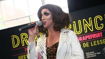 NEW YORK, NY - OCTOBER 13:  Marti Gould Cummings performs during Drag Brunch hosted By Countess Luann de Lesseps at Industria on October 13, 2018 in New York City.  (Photo by Astrid Stawiarz/Getty Images for NYCWFF)
