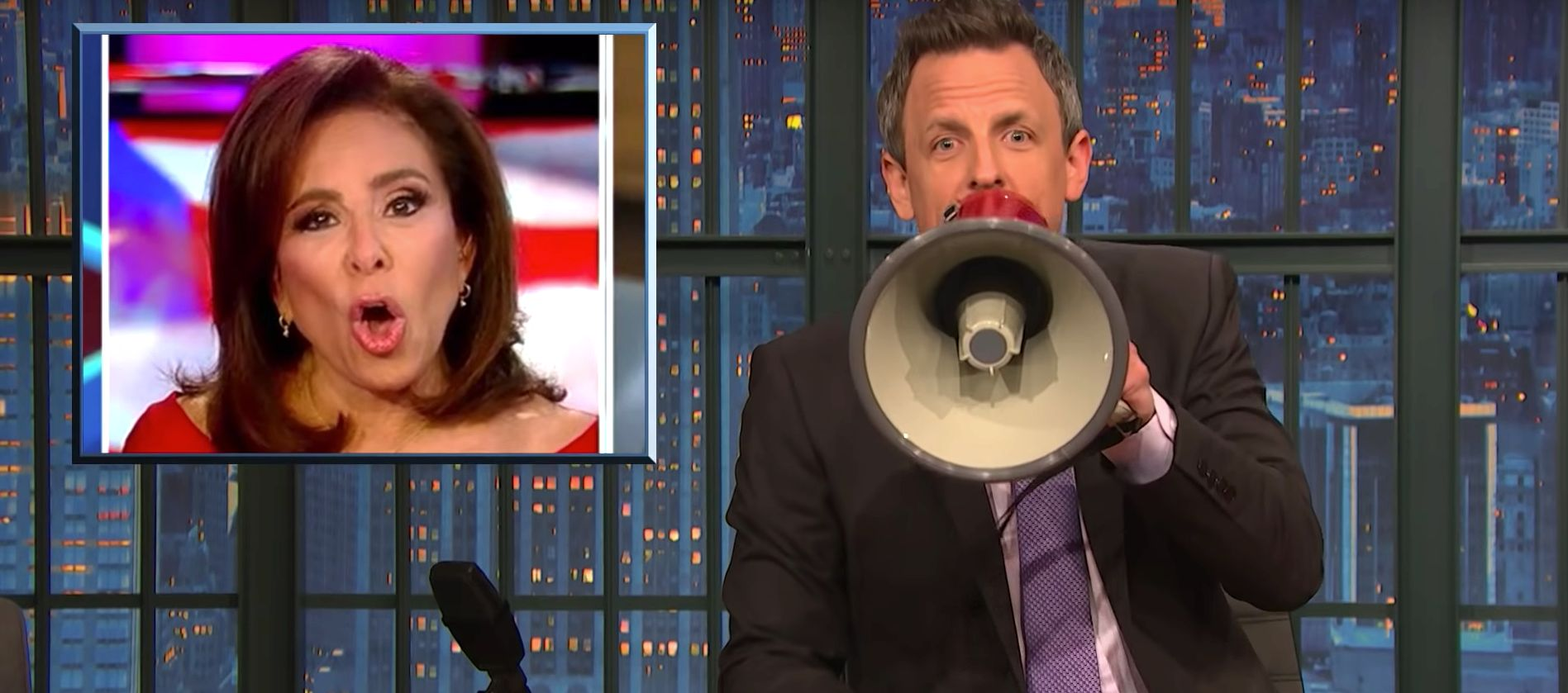 Seth Meyers' Racism Warning To Fox News' Jeanine Pirro Is Loud And