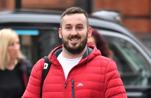 Goddard grinned as he arrived at court on