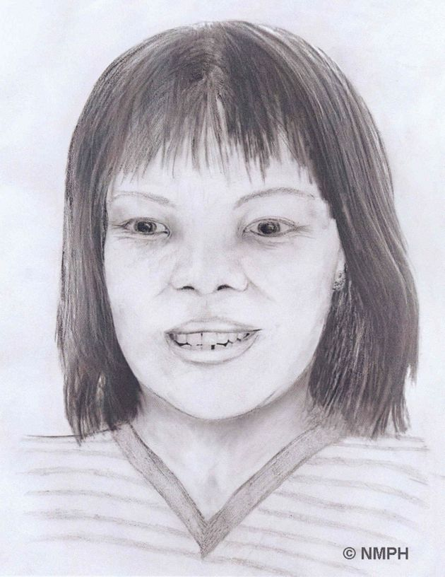 An artist's impression of the body of the woman, who has now been identified as Lamduan Armitage...