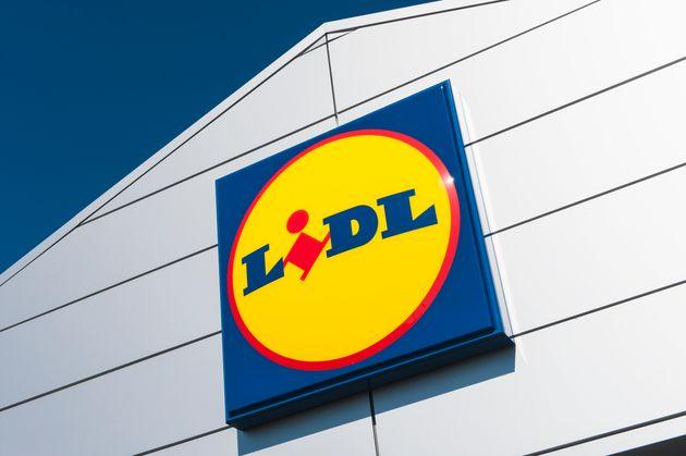 El logotipo de un supermercado Lidl, en una imagen de