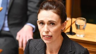WELLINGTON, NEW ZEALAND - MARCH 19: Prime Minister Jacinda Ardern speaks to the house at Parliament on March 19, 2019 in Wellington, New Zealand. 50 people were killed, and dozens are still injured in hospital after a gunman opened fire on two Christchurch mosques on Friday, 15 March.  The accused attacker, 28-year-old Australian, Brenton Tarrant, has been charged with murder and remanded in custody until April 5. The attack is the worst mass shooting in New Zealand's history. (Photo by Mark Tantrum/Getty Images)