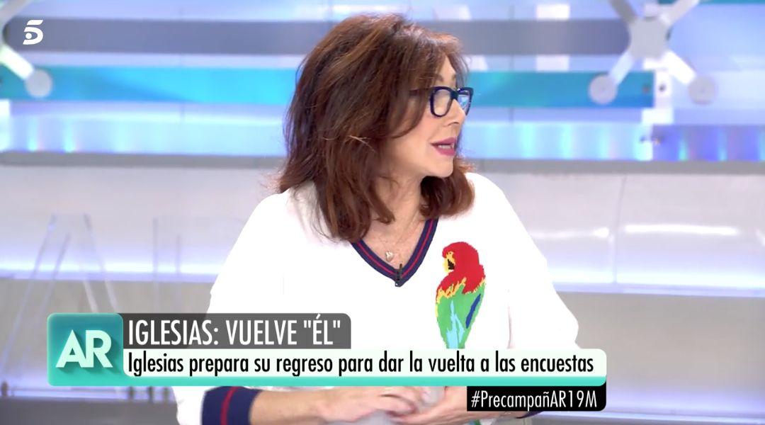 El inesperado comentario de Ana Rosa sobre Pablo Iglesias: