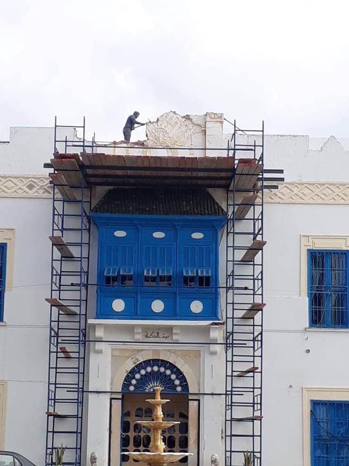 L'Institut National du Patrimoine déplore la destruction d'un emblème beylical à Beit El