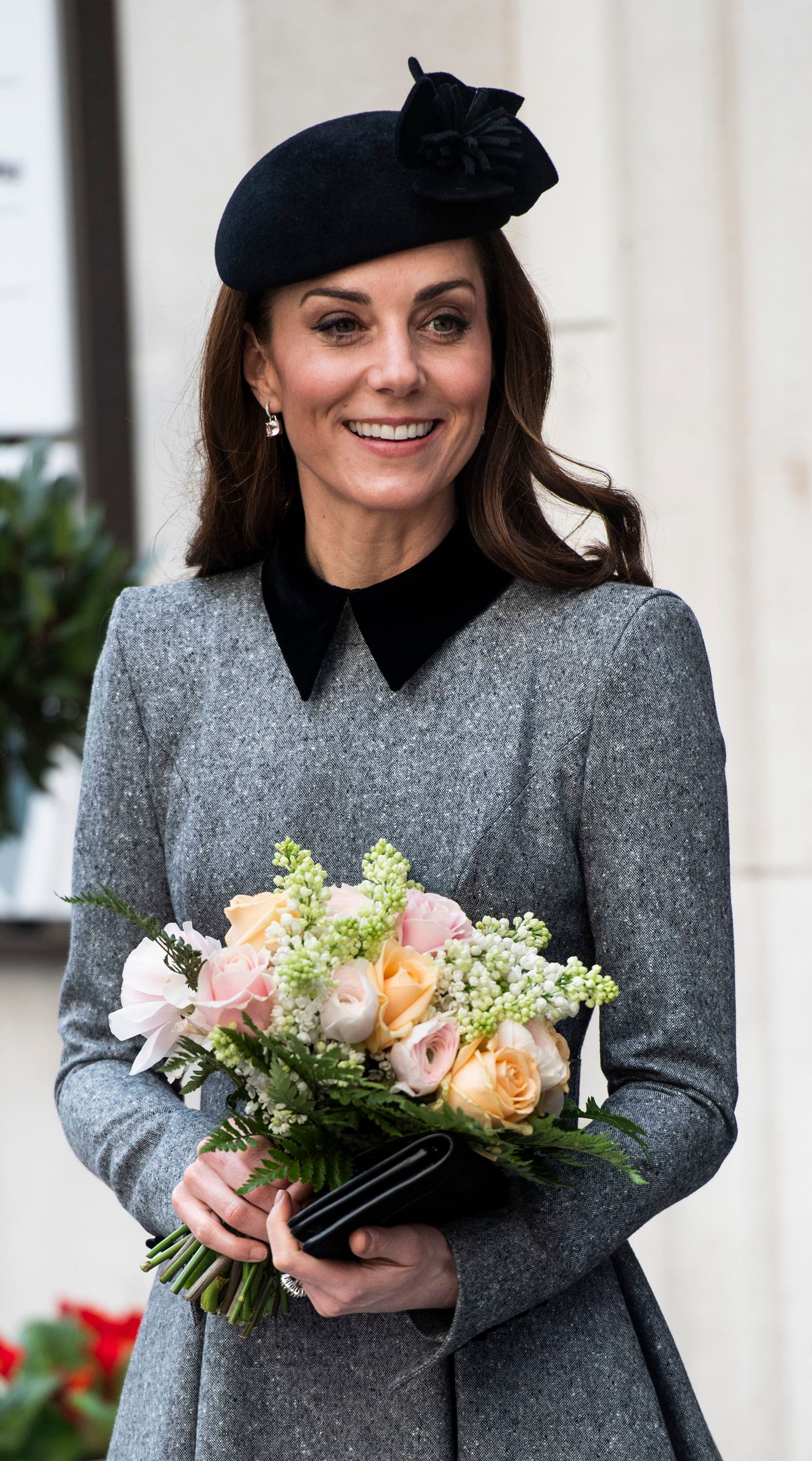 LONDON, ENGLAND - MARCH 19: Catherine, Duchess of Cambridge visits King's College to officially open Bush House, the latest education and learning facilities on the Strand Campus on March 19, 2019 in London, England. (Photo by Mark Cuthbert/UK Press via Getty Images)