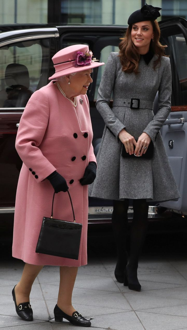 This is the first time the Duchess of Cambridge, and the queen have made a joint appearance together at a royal engagement.