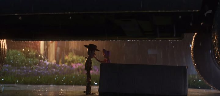 Woody and Bo Beep in Toy Story 4
