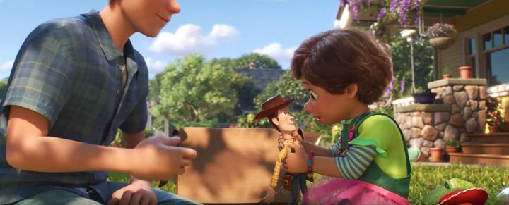 A still from the first full-length trailer for Toy Story 4
