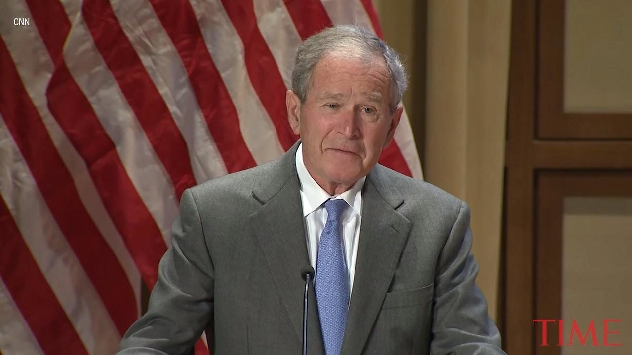 "Former President George W. Bush welcomed new U.S. citizens during a naturalization ceremony in Dallas, saying that ""amid all the complications of policy, may we never forget that immigration is a blessing and a strength."""
