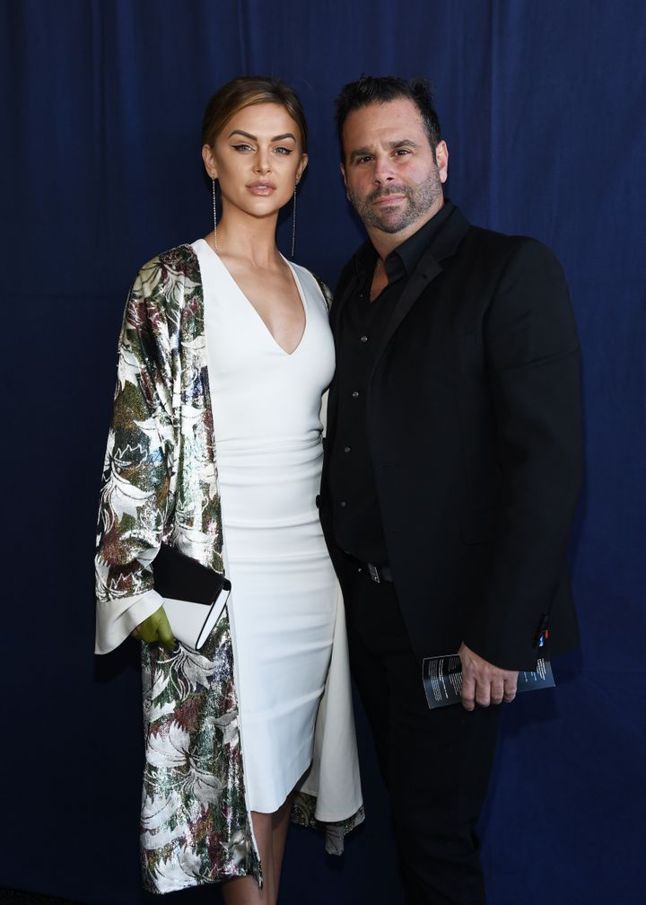 Lala Kent and her fiancé, director Randall Emmett, attend the 2019 Film Independent Spirit Awards on Feb. 23