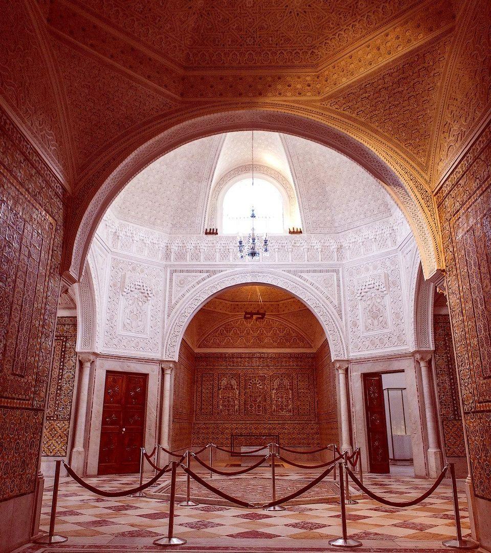 Vue partielle de la salle du Harem, comptant parmi les plus belles salles de l'aile privée du...