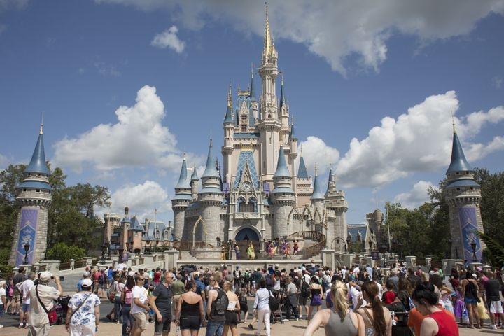 Disney World features Cinderella's Castle, while Disneyland is home to Sleeping Beauty's.