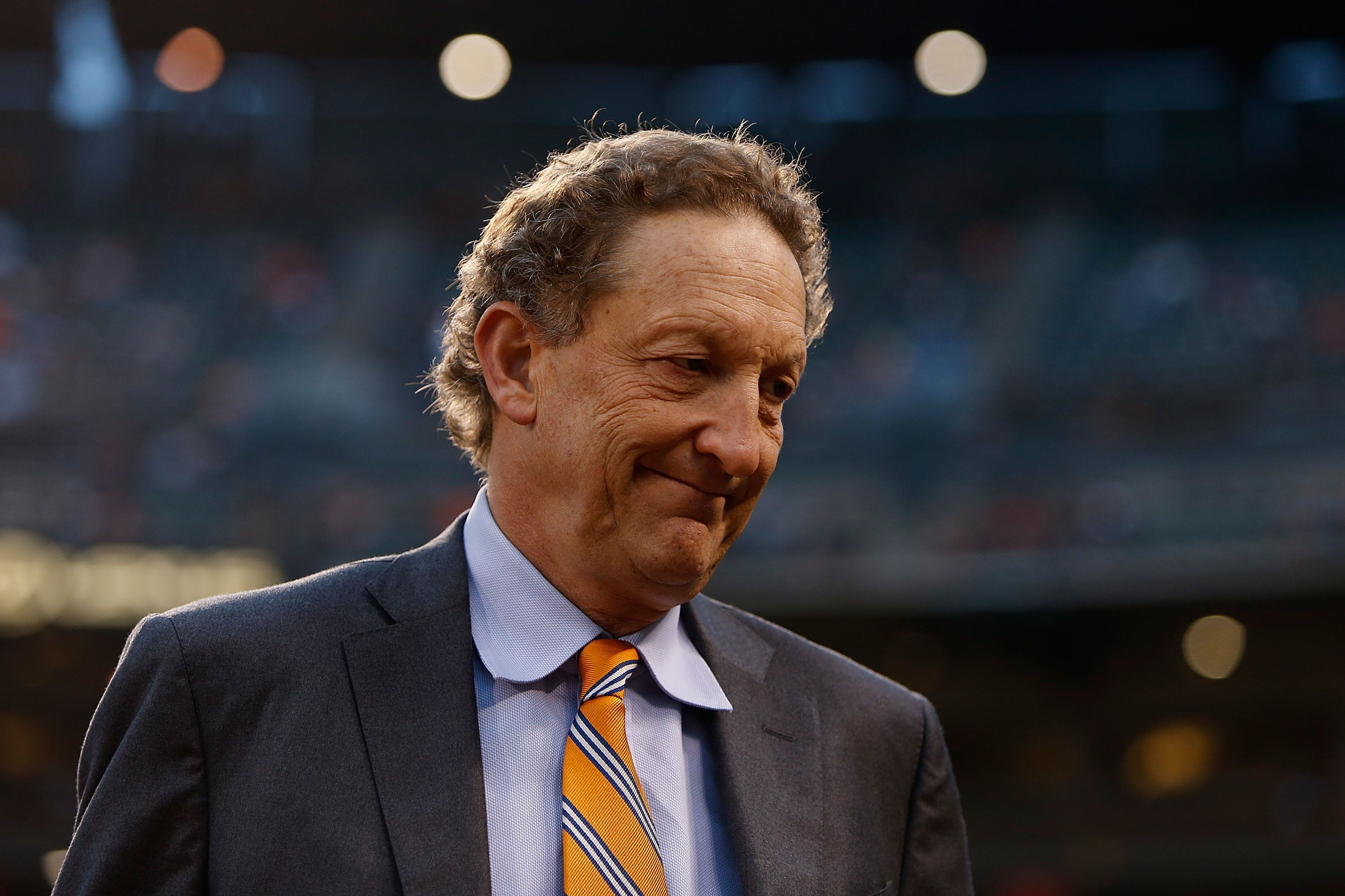 SAN FRANCISCO, CA - SEPTEMBER 12: CEO of the San Francisco Giants Larry Baer looks on before a game against the San Diego Padres at AT&T Park on September 12, 2016 in San Francisco, California.  (Photo by Lachlan Cunningham/Getty Images)