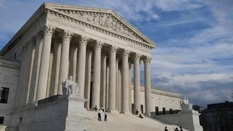 A view of the Supreme Court in Washington, Friday, March 15, 2019. The Supreme Court is ruling against a group of immigrants in a case about immigration detention. In the case before the justices a group of mostly green card holders who had committed crimes argued that unless they were detained immediately after finishing their prison sentence they should get a hearing to argue for their release while deportation proceedings proceed. The high court disagreed. (AP Photo/Susan Walsh)