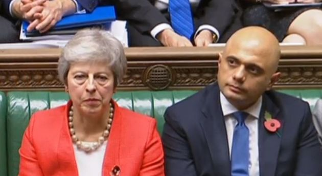 Theresa May and Home Secretay Sajid