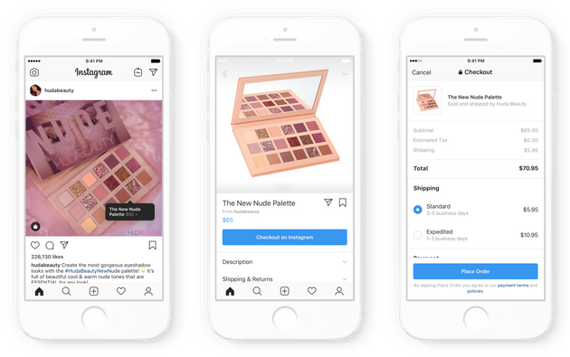 A look at how Checkout, Instagram's new shopping interface,