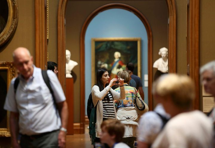 "Britain's National Portrait Gallery in London has ""jointly agreed not to proceed"" with a $1.3 million grant from"