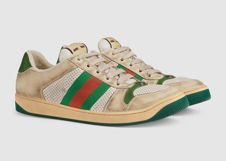 Gucci's Screener leather sneaker comes with an $870 price tag.