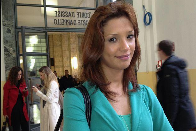 Imane Fadil, en una de sus comparecencias en los
