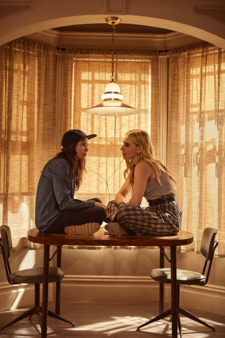 Ellen Page (left) as Shawna Hawkins and Zosia Mamet as Claire Duncan.