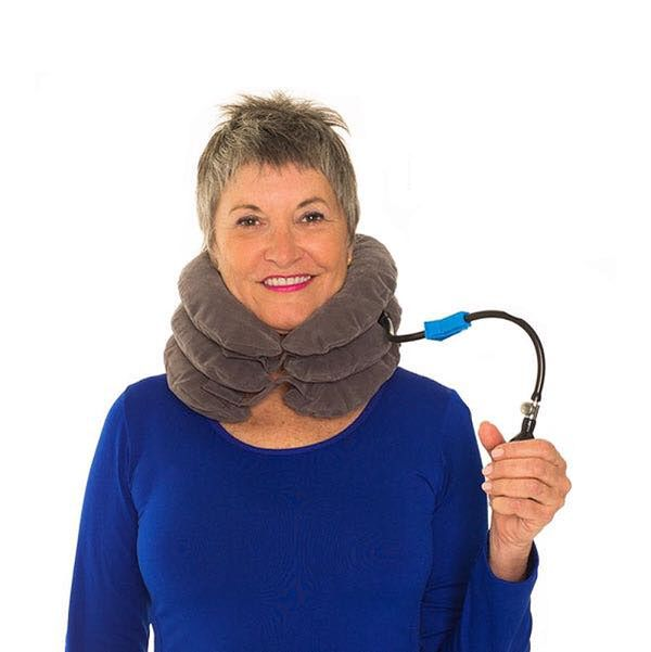 "If your mom likes to travel on crowded planes, this <a href=""https://www.healwell.com/products/necksmith-neck-traction-suppor"