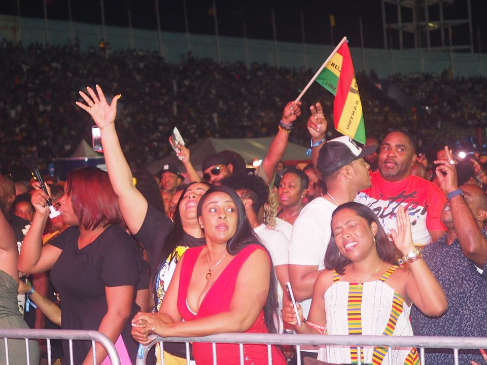 Revellers at the Long Walk To Freedom