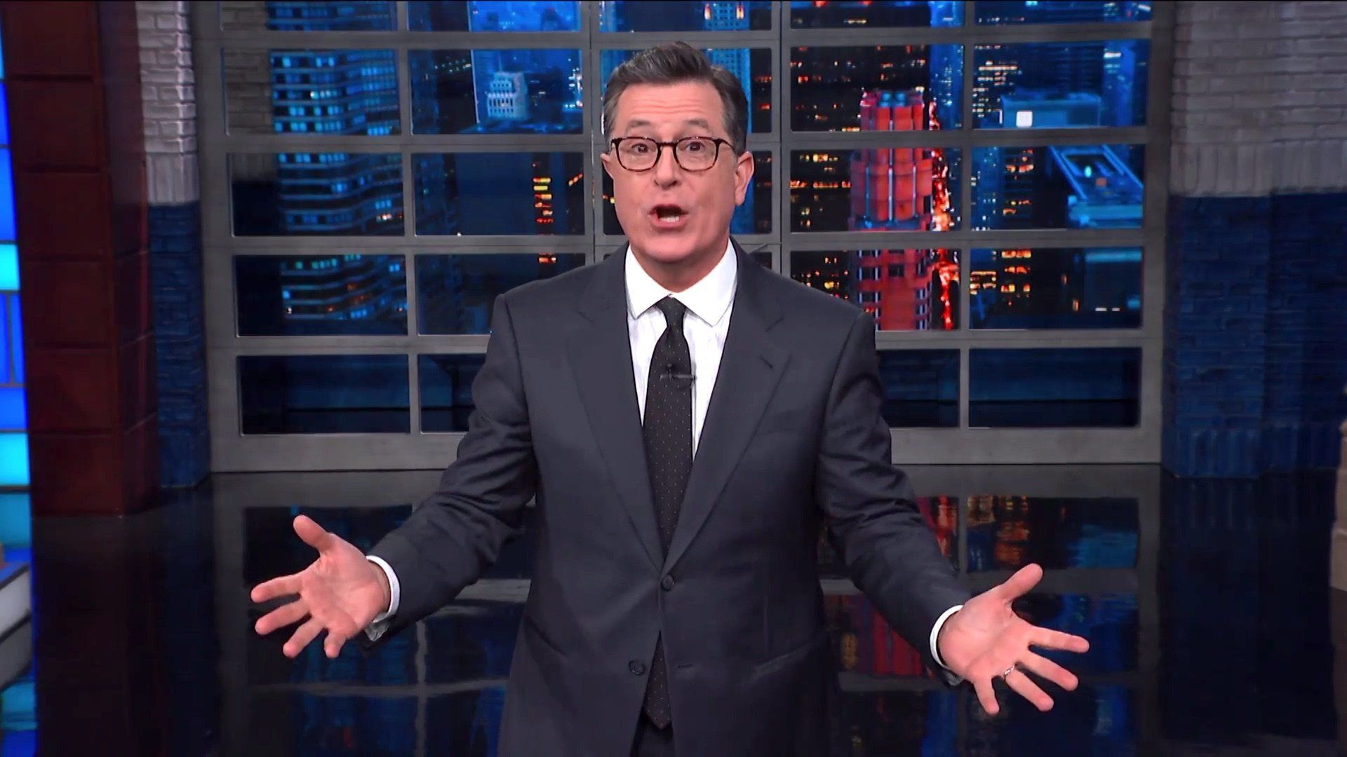 Stephen Colbert Finds A NSFW Name Hidden Inside Trump's Signature